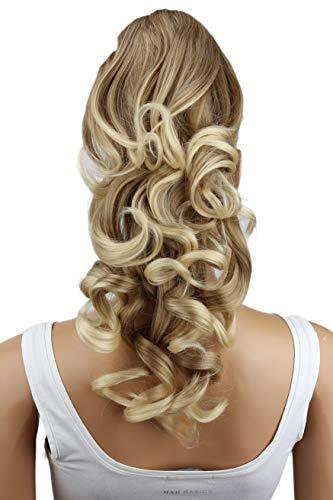 PRETTYSHOP 40cm Haarteil Zopf Pferdeschwanz Haarverlängerung Voluminös Gewellt Blond Mix H207