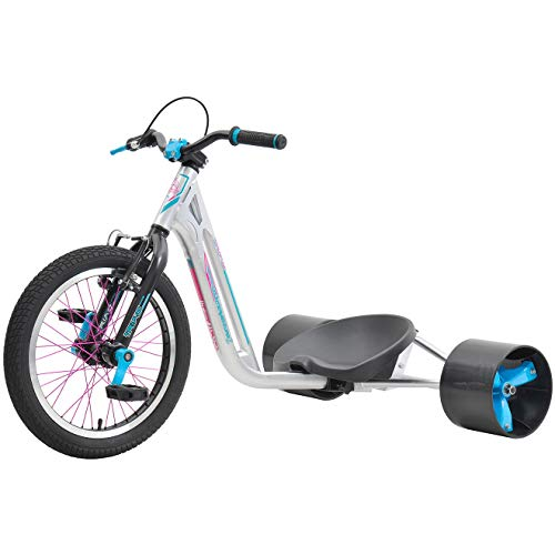 Triad Drift Trikes Counter-Measure 2 Velo Mixte Enfant, Argent/Bubble Gum