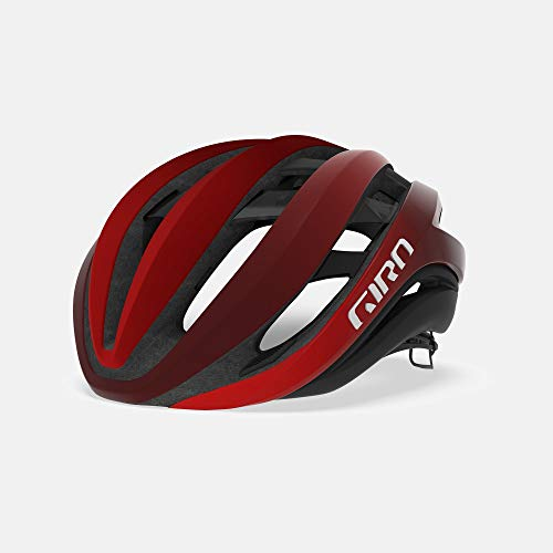 Giro Aether MIPS Adult Road Cycling Helmet - Medium (55-59 cm), Matte Bright Red/Dark Red Fade (2020)