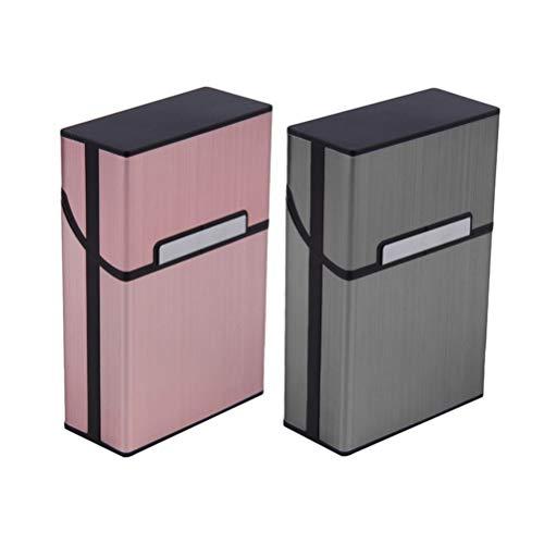 Zigarettenschachtel 2019 Personality Kreative Aluminium Rauchen Zigarettenetui Mode Herren Zigarrentabak Halter-Taschen-Kasten-Speicher-Container-Geschenkbox (Farbe : 001, Size : 90 * 58 * 26mm)