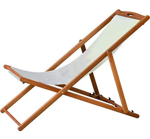 Vigor Chaise Longue en Bois, 112 x 59 x 91 cm