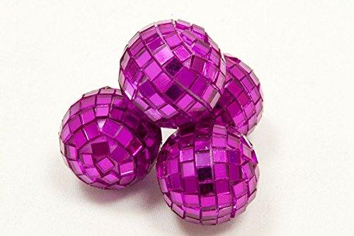 HB - Mini Boules à facettes Fuschia x4