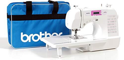 Brother CX70PE (Patchwork Edition) - Máquina de coser electrónica con 70 puntadas de costura (útiles, elásticas, decorativas), costura Automática, Display multifunción + Mesa Quilt & Patchwork + Bolsa