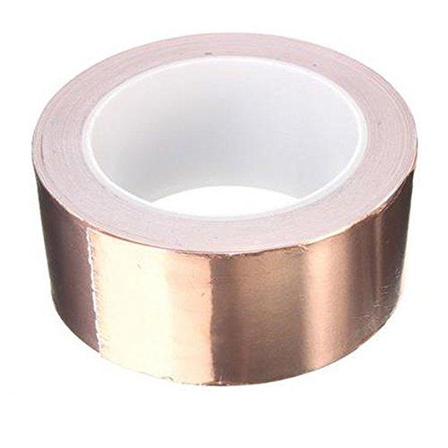 DaoRier - Cinta adhesiva de cobre (10 mm x 20 metros) para repelente de insectos, emiShielding, vidrio templado, circuitos de papel, reparaciones eléctricas, manualidades