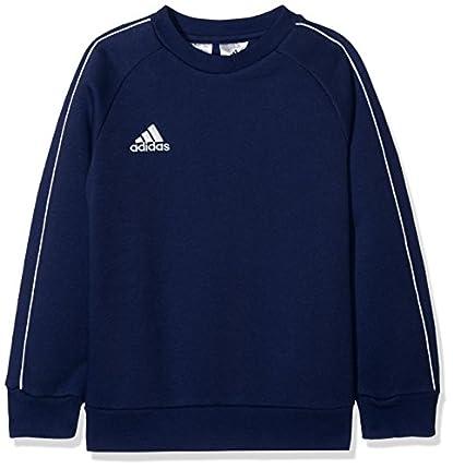 adidas CORE18 SW Top Y Sudadera, Unisex Niños, Azul (Dark Blue/White), 164