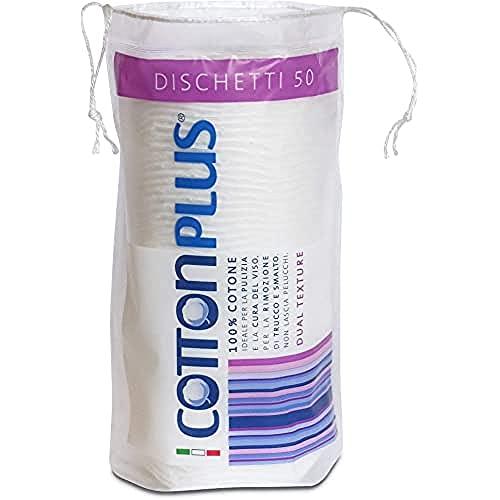 Cotton Plus DISCHETTI 50 pz. - LINEA BEAUTY | DISCHETTI 100% PURO COTONE | Dischetti struccanti per...