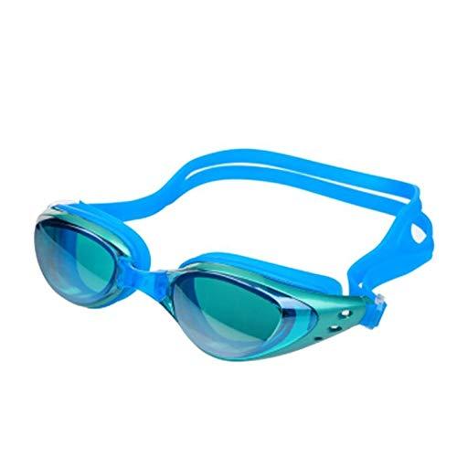 Gafas de natación Gafas anti-niebla Gafas de natación Silicona Sellado Gafas de natación Anti-ultravioleta, gafas de natación a prueba de gotas e impermeables para hombres adultos mujeres jóvenes
