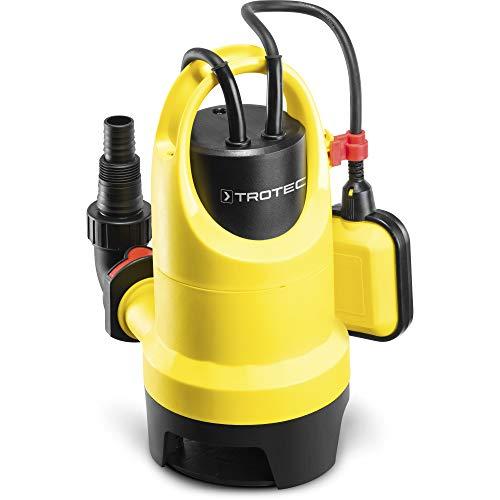 TROTEC Schmutzwasser-Tauchpumpe TWP 4036 E IPX8 Schutzart, 5 m Förderhöhe, 7.500 l/h Förderleistung