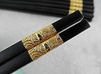 MBB箸10ペアの中国スタイルのChinseレストラン寿司日本Shop韓国料理使用 ゴールド HOME0013PA-10G-MBB