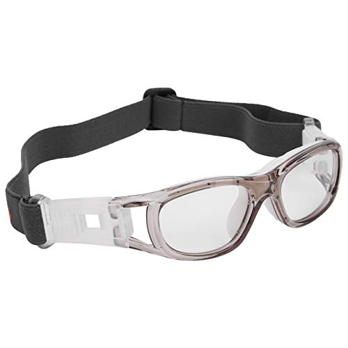 TANKE Kinder Sportbrille Teenager verstellbar Fußball Radfahren Basketball Brille Zubehör Grau