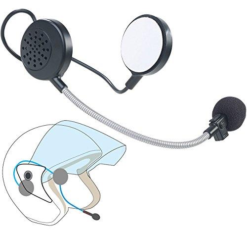 Callstel Helmlautsprecher: Intercom-Stereo-Headset für Motorrad-Helm, Bluetooth, 10 m Reichweite (Helm Lautsprecher Bluetooth)