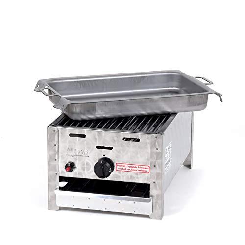 Gasgrill-Kombibräter 3,65 kW mit Grillrost und Stahlpfanne 1-flammig Gasgrill Grill Gastrobräter Profigrill Verein