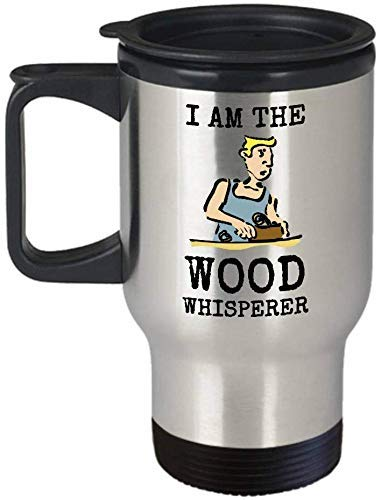 Houtfluisteraar reisbeker Ik ben de coole houtbewerking Cadeaubeker