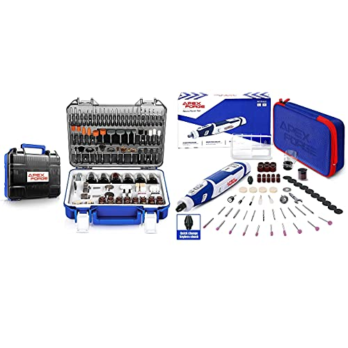 APEXFORGE Rotary Tool Accessories Kit with 8V Cordless Rotary Tool