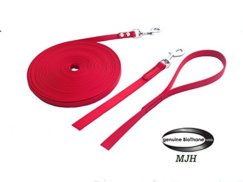 MJH/AfP Super Heavy BioThane - Cuerda (3 m, 13 mm de largo), color rojo