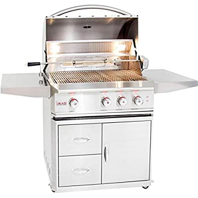 Blaze Professional LUX 34-Inch 3-Burner Natural Gas Grill with Rear Infrared Burner - BLZ-3PRO-NG
