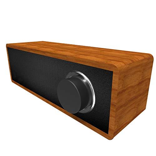 Qinghengyong Portable Wooden Wireless Speaker Bluetooth 4.2 Outdoor hifi sound box Hifi Speaker Stereo Phone Soundbar MP3 Music Player Loudspeaker black