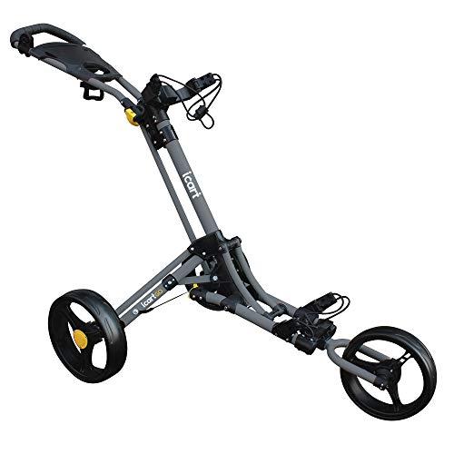 Masters Golf - iCart Go - 3 Wheel Push Trolley Grey/Black