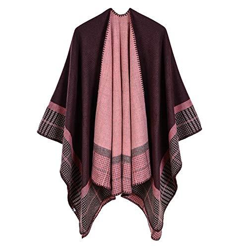 QFDM Ladies Scarf Fria de Mujer Capas de Cachemira Capas de Aislamiento Mantores Sombrillas Sombrillas Clothing Accessories (Color : Coffee, Size : One Size)