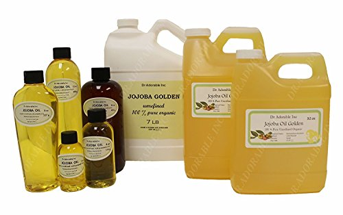 Jojoba Oil Golden Organic 100% Pure By Dr.Adorable 2 oz with Glass Dropper