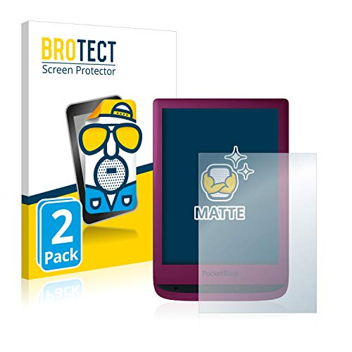 BROTECT 2x Antireflecterende Beschermfolie compatibel met PocketBook Touch Lux 5 Anti-Glare Screen Protector, Mat…