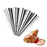 6 unids/set moldes espirales de acero inoxidable de acero inoxidable cono de cono de cono de cono de conos de crema para hornear con glaseado de glaseado de la boquilla Herramienta de pastelería