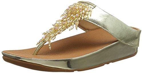 Fitflop Damen Zehentrenner,  Rumba Toe-thong Sandals, Gold (Metallic Gold 537), 39EU