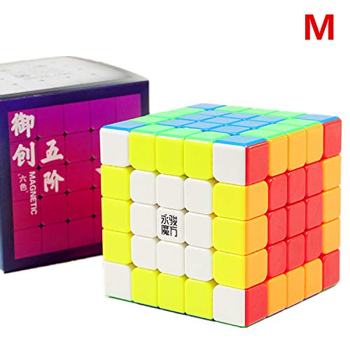 LiangCuber Yongjun Yuchuang V2 M 5x5 Speed Cube YongJun YJ YuCuang 2M 5x5x5 Magnetic Magic Cube 62mm Stickerless (Magnetic Version)