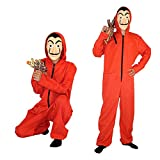Mask Red Costume for Coverall Jumpsuits