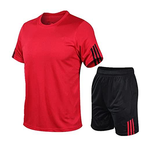 N\P Traje de fútbol de verano de los deportes de los hombres de la manga corta de la camiseta