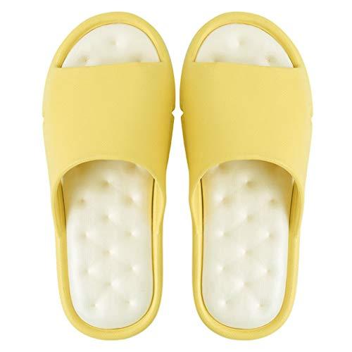Zapatillas para Ducha Verano Baño Sandalias Zapatillas Hombres y mujeres Parejas Parte inferior suave Sandalias antideslizantes Inicio Zapatillas interiores y exteriores Fondo grueso Zapatillas de Pla