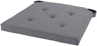 Ikea Justina Gray Chair Cushion Pad, Woven with Yarn , Reversible (2 Cushions)