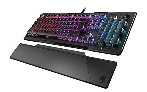 Roccat Vulcan 121 - Mechanische Gaming Tastatur, AIMO LED Einzeltastenbeleuchtung, Titan Switch Speed, Aluminiumoberfläche, Multimedia-Tasten, Handballenauflage, Linear Switch, schwarz