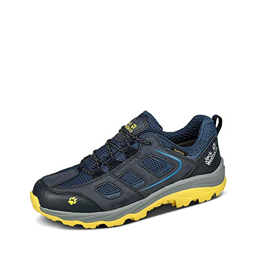 Jack Wolfskin Jungen Unisex Kinder Vojo Texapore Low K Outdoorschuhe, Dark Blue/Yellow, 30 EU