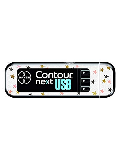 Diabetes Vinyl Sticker Bayer Contour Next USB - Stars