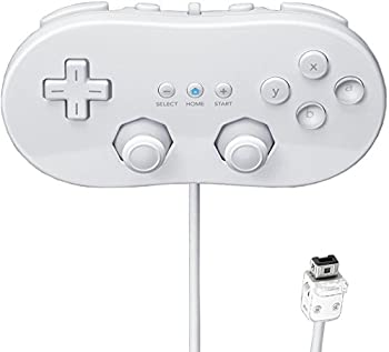 Beastron Classic Controller Compatible with Wii White  1 Pack