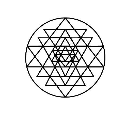Lamubh Adhesivo de Pared con patrón geométrico, calcomanía de Vinilo para Pared, decoración nórdica para el hogar, Sala de Estar, Comedor, Pared de Fondo 57x57 cm
