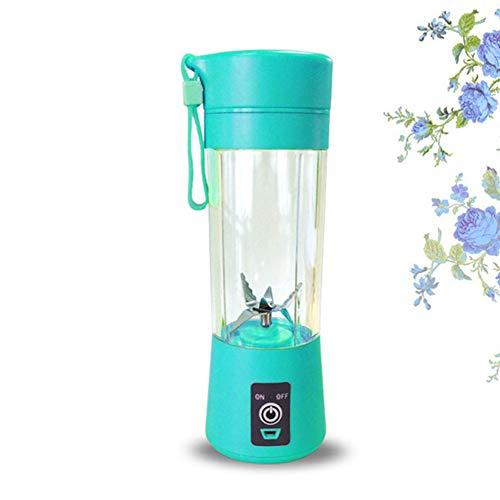Tragbarer Mixer, Smoothie-Mixer, elektrische Shaker-Flasche, 3 in 1 kabelloser persönlicher Mixer-Saftmixer mit wiederaufladbarem USB-Anschluss, Verwendung im Büro/Fitnessstudio/im Freien,Blau