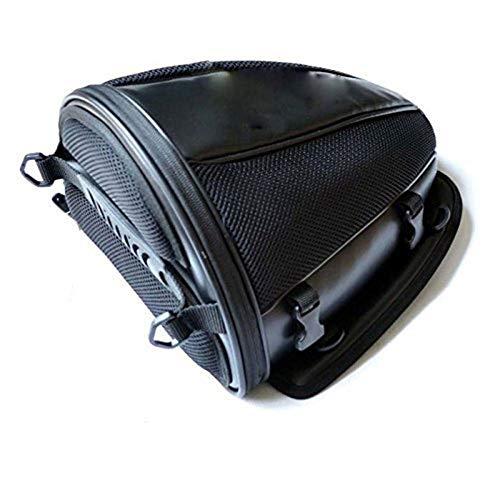 WEFH Motor Tail Rear Bag Sports Carry Bag Moto Bicicleta Equipaje Sillín Bolsa, Negro