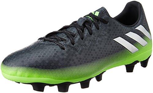adidas Herren Messi 16.4 FxG Fußballschuhe, Grau (Dark Grey/Silver Met./Solar Green), 44 2/3 EU