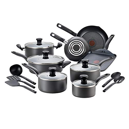 T-Fal 18pc Black Initiatives Bakeware And Cookware Sets