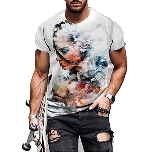 SSBZYES Camiseta De Verano para Hombre Camiseta De Talla Grande para Hombre Estampado De Camiseta De Manga Corta Estampado Pintura Abstracta Camiseta De Manga Corta Camiseta Casual