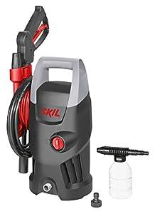 Skil 0761AA - Hidrolimpiadora de Alta presión (1400 W, 105 Bar, 370 l/h, Rango de operación de 11 m, Pistola de gatillo, Botella de detergente, Lanza)