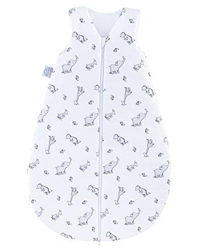 Julius Zöllner Baby Ganzjahresschlafsack aus 100 Prozent Baumwolle, Größe 110, 24-48 Monate, Standard 100 by OEKO-TEX, Made in EU, Safari