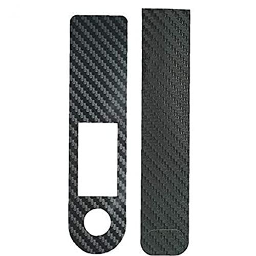 Scooter-Schirm-Film-Beschleuniger-Aufkleber-Carbon-Faser-Schutzfolie Kompatibel mit Xiaomi M365 Pro Elektro-Scooter Zubeh?r Schwarz 2ST Scooter Display-Schutzaufkleber