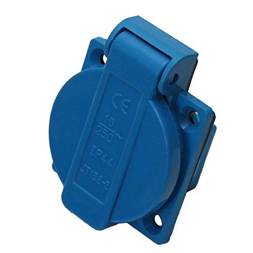 Einbausteckdose IP44 Schuko 230/250V 16A in blau oder schwarz (blau)