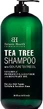 Botanic Hearth Tea Tree Shampoo - Fights Dandruff and Dry Scalp - For Daily Use - Men and Women, Promotes Heathy Scalp - 16 fl oz