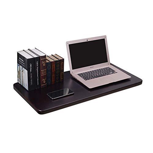 GPWDSN Mesa Plegable montada en la Pared, Mesa de Comedor de Madera Maciza Escritorio de computadora para el hogar Escritorio de Estudio de Aprendizaje para niños - Negro Marrón (Tamaño: 120 vec