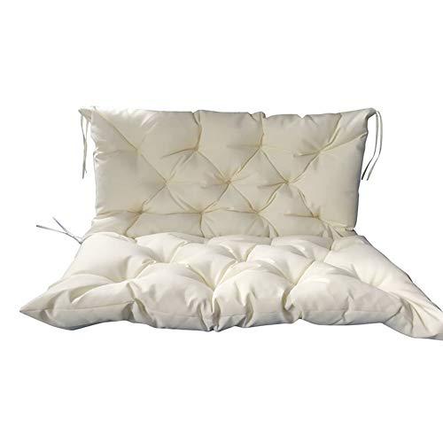 Cuscino per panca da giardino con schienale alto, per panca da dondolo con schienale alto, comodo e spesso, imbottito per interni ed esterni, per patio, divano, impermeabile, protezione dai raggi UV