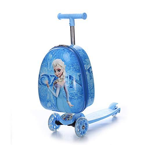 SONGXZ Skateboard Children's Suitcase New Skateboard Children's Suitcase Cartoon Anime Suitcase